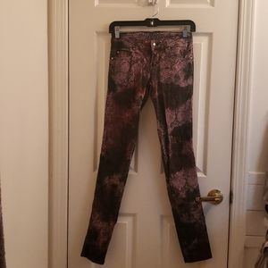 Tripp nyc Oil Spill Snake Skin Print Pants Goth 0
